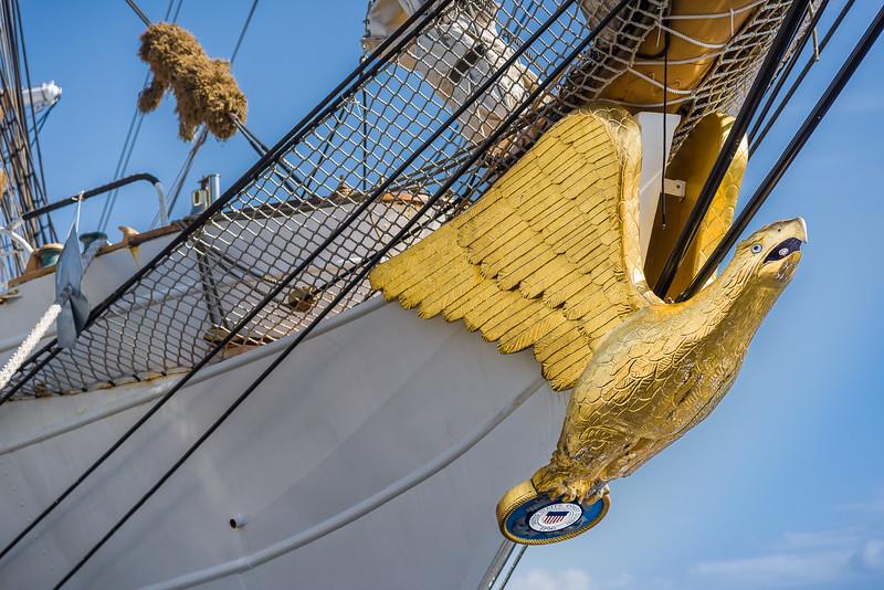 The Figurehead on the Bow of the USCGC Eagle