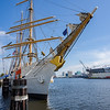 The USCGC Eagle Moored in the Elizabeth River in Portsmouth Virginia