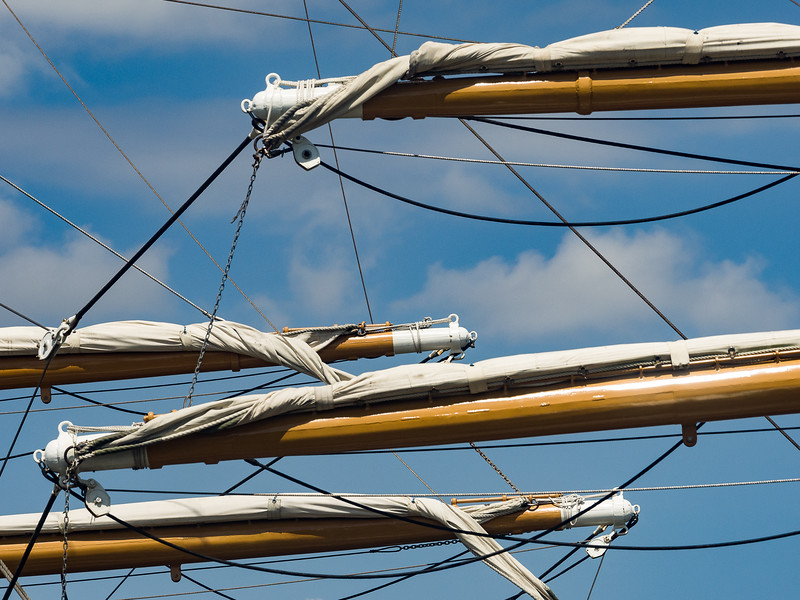 Masts, Yardarms and Rigging on the USCGC Eagle
