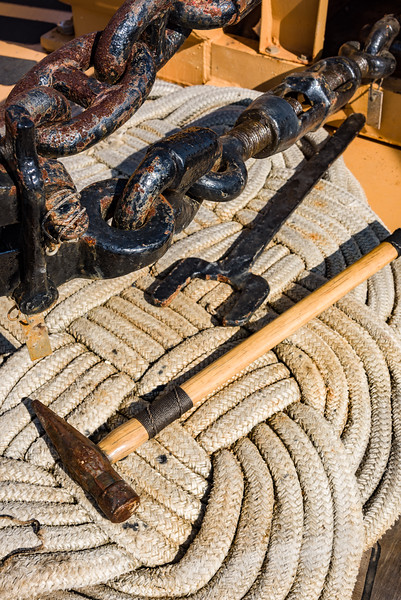 Hammers, Wrenches and Woven Ropes on the Deck of the USCGC Eagle