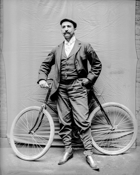Richards with bicycle