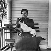 Mrs. Polk with dog