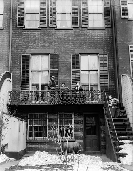 Exterior of the Wood's Passaic home