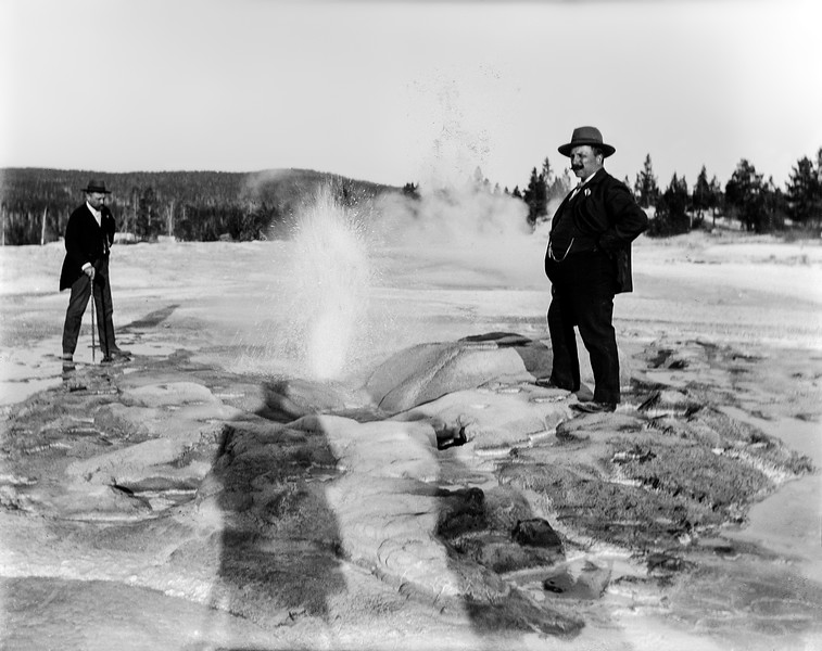 Reeves by small geyser