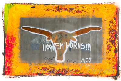 Graffiti of UT Longhorn
