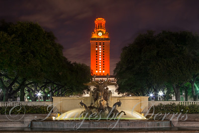 UT Tower and Littlefiled Fountain
