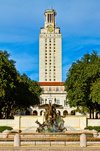 Littlefield Fountain and UT tower