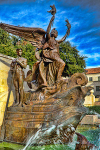 Statue at the Littlefield Fountain