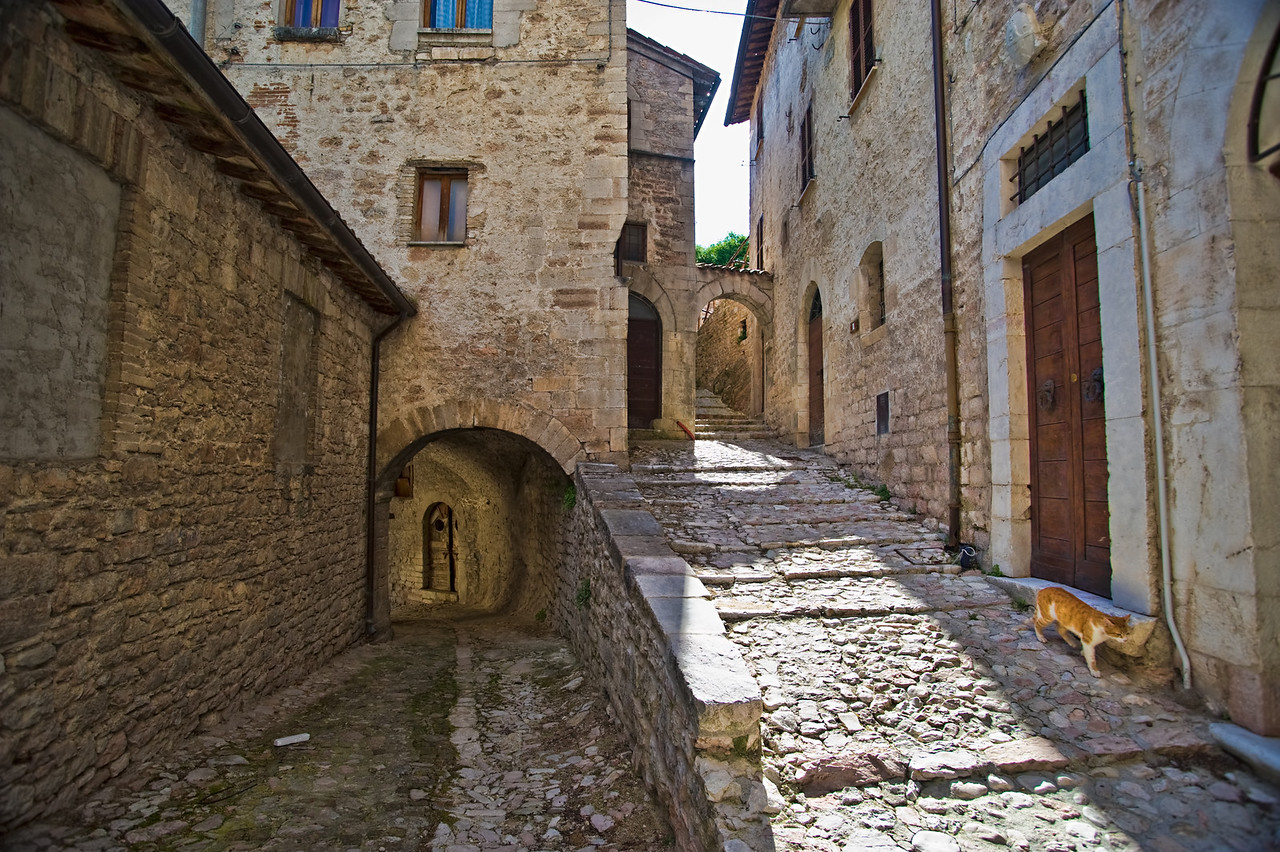 Appenine mountain village of Visso, Umbria
