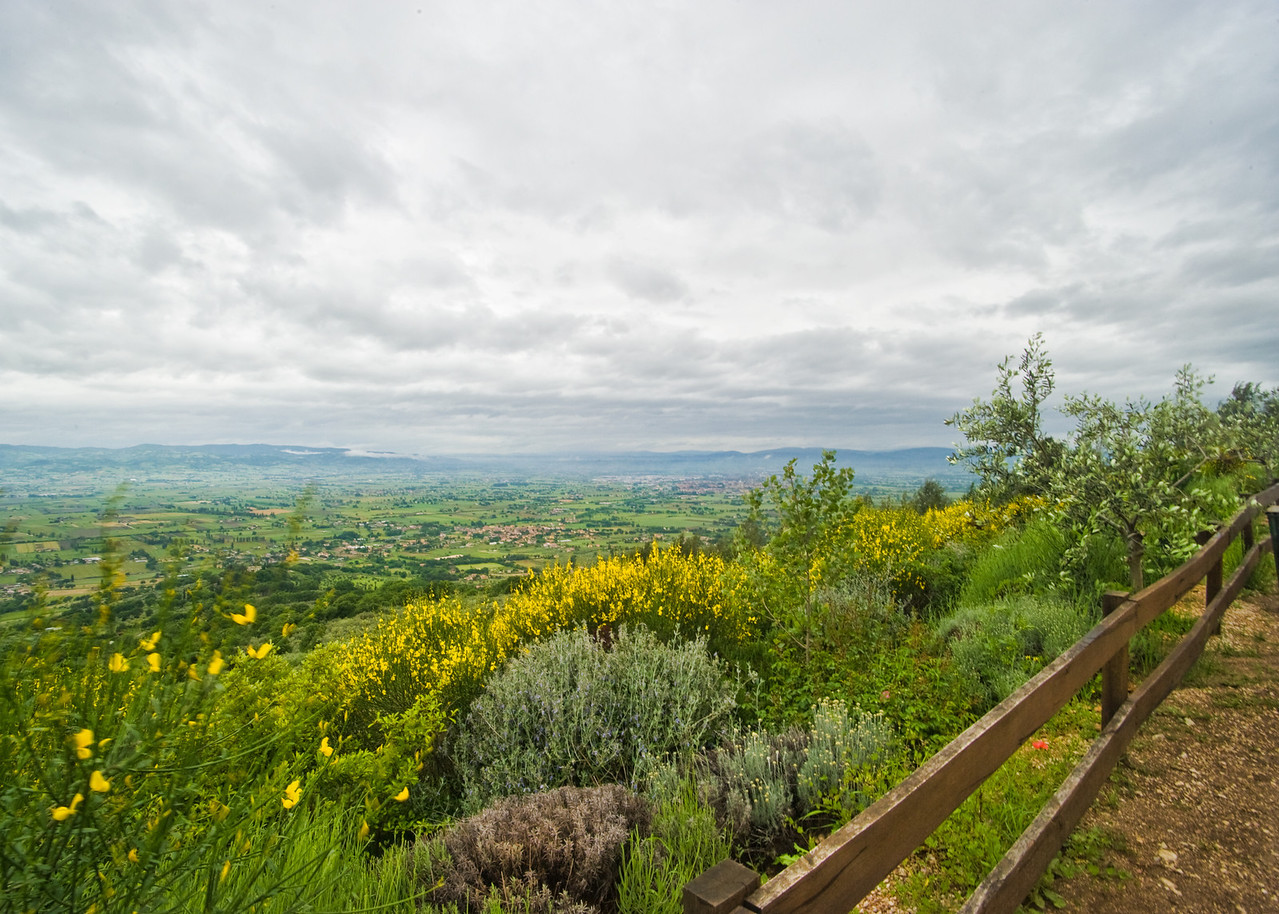 View from farmhouse looking North to Perugia and Assisi