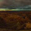 Dead Horse Point State Park, UT Cloudy Night with Distant Light Pillars