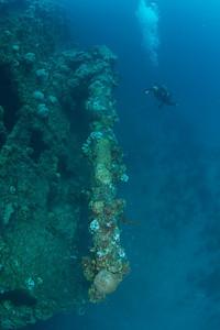The stern gun on the Rio De Janeiro Maru.