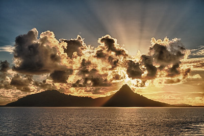 Sunrise over Weno Island (HDR).