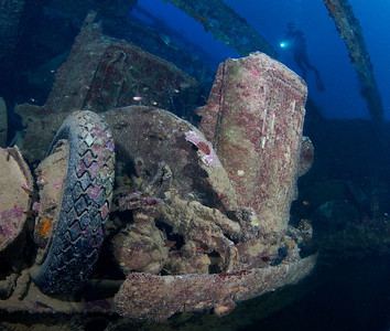 A truck in the #2 hold of the San Francisco Maru.
