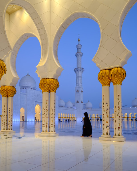 Lonely at Sheik Zayed Grand Mosque, Abu Dhabi