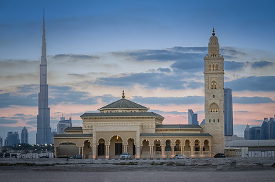 Mosque and Burj Khalifa