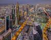 Sheik Zayed road Dubai during Blue hour