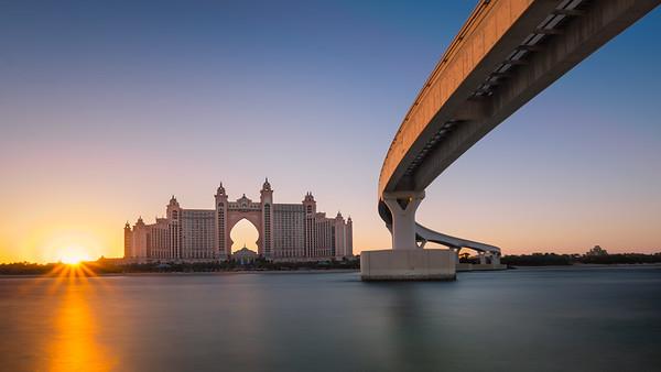 Sunset over Atlantis Dubai