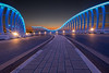 Meydan Bridge at night, Dubai
