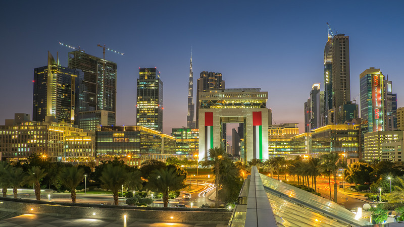 DIFC by night, Dubai