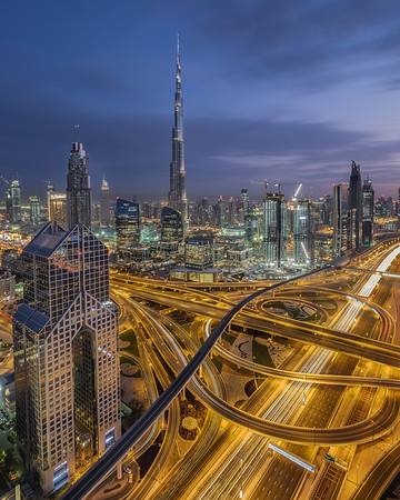 New Dubai at night