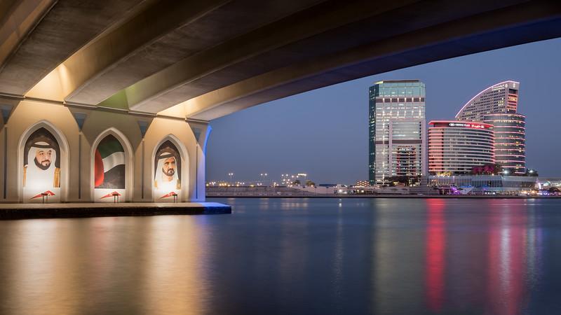 Festival city from below Business Bay bridge