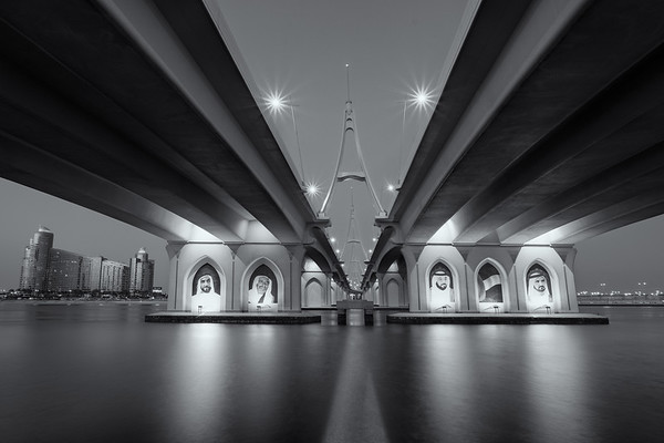 Under the bridge - Business Bay bridge, Dubai