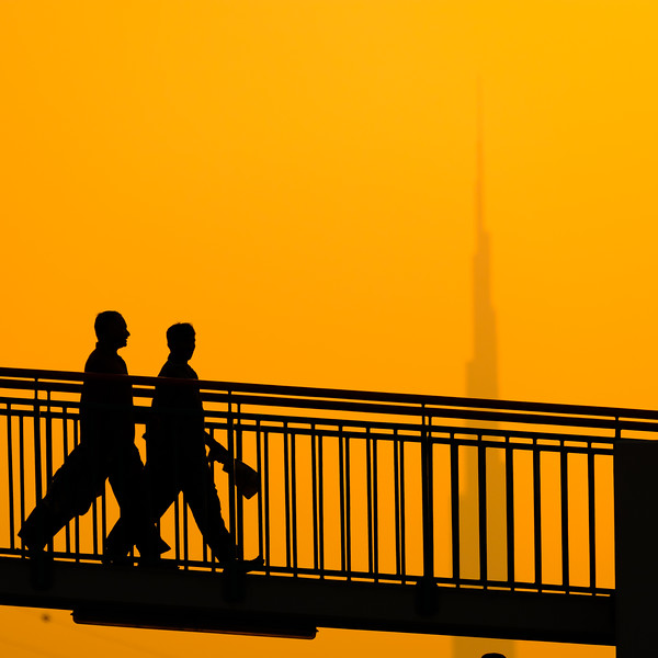 Waking at sunset, Dubai