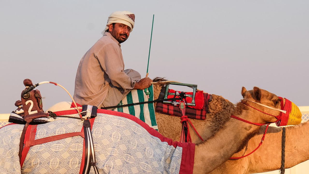 Proud camel herder