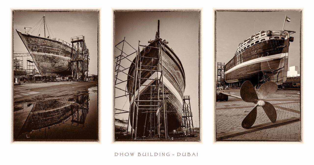 Dhow building, Dubai