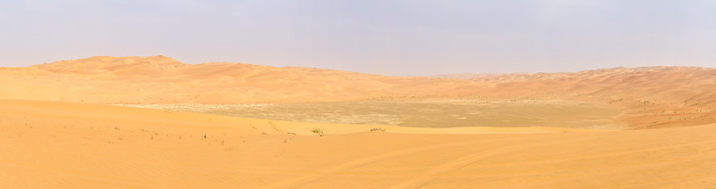 Gravel plain with surrounding dunes