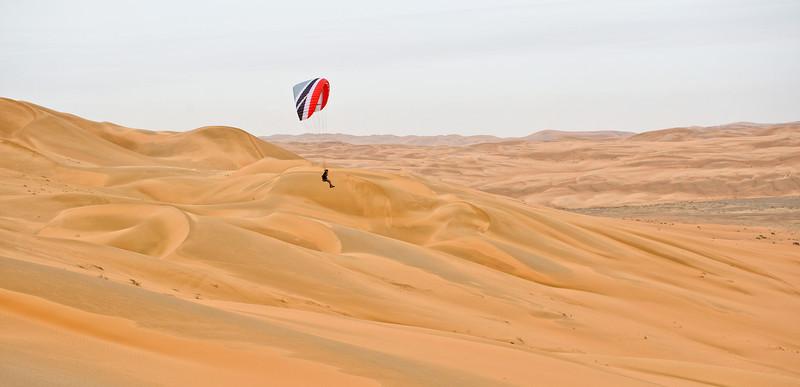 Paragliding over the Empty Quarter
