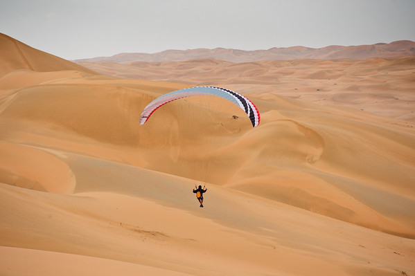 Paragliding over the Empty Quarter