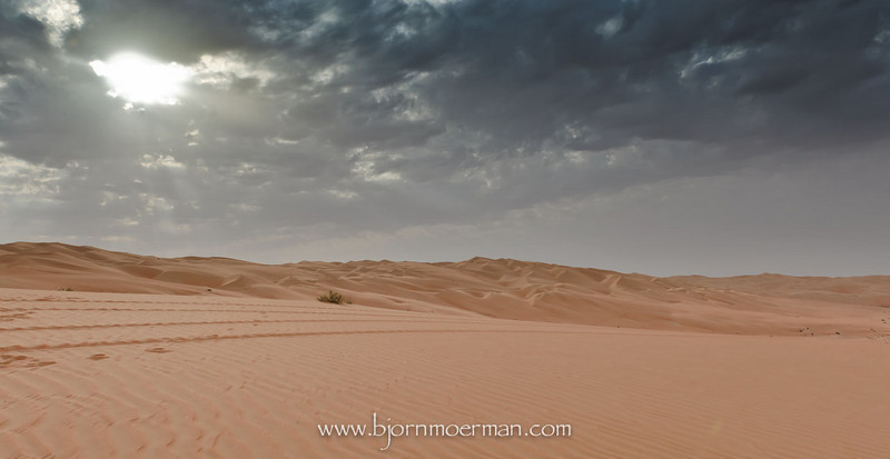 Rainy clouds over Liwa