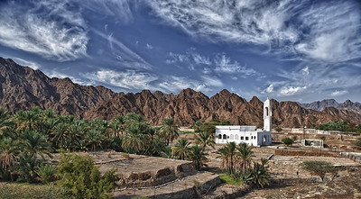 Lonely mosque 20km South of Hatta