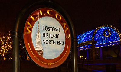 Entrance Sign to Boston's North End at Columbus Park