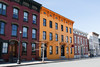 Colorful buildings on Warren Street in Hudson, NY