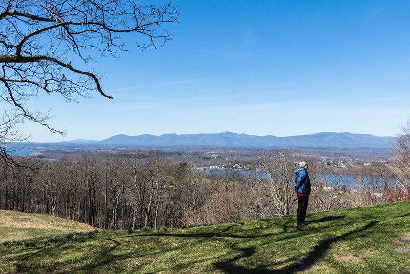 Sweeping view of the Hudson Valley and Catskill mountains