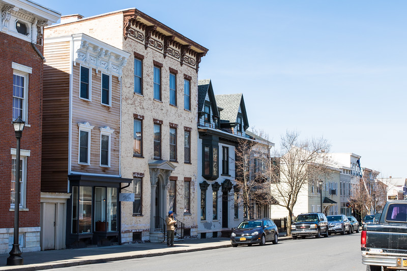 Eclectic buildings in Hudson, NY