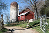Farm building and silo