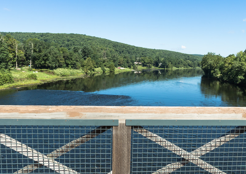 Delaware River seen from the Roebling Bridge near Port Jervis, New York