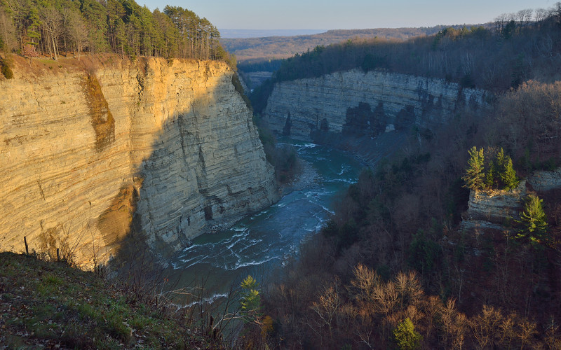Letchworth State Park late on a November afternoon.  Nikon D600 (November 2012).