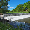 The dam on Wiscoy Creek at Mills' Mills.  Olympus E-5 (June 2012).