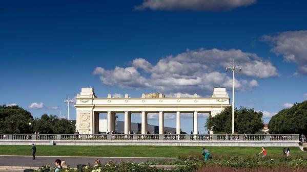 Archway to Gorky Park (color version)
