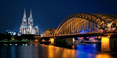 Dom Cathedral, Cologne Germany from across The Rhine