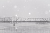 the Alexandra bridge in winter