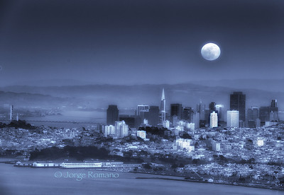 Full Moon over San Francisco.