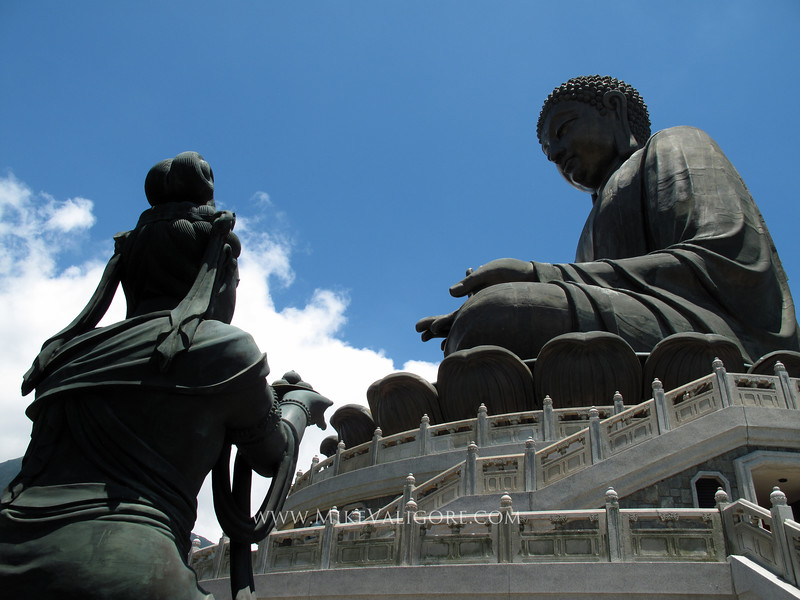 Tian Tan Buddha<br /> <br /> This massive buddha statue is located on Lantau Island near Hong Kong.
