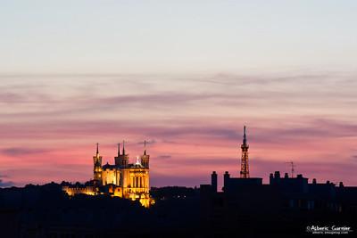 Notre Dame de Fourvière by Night (Lyon)