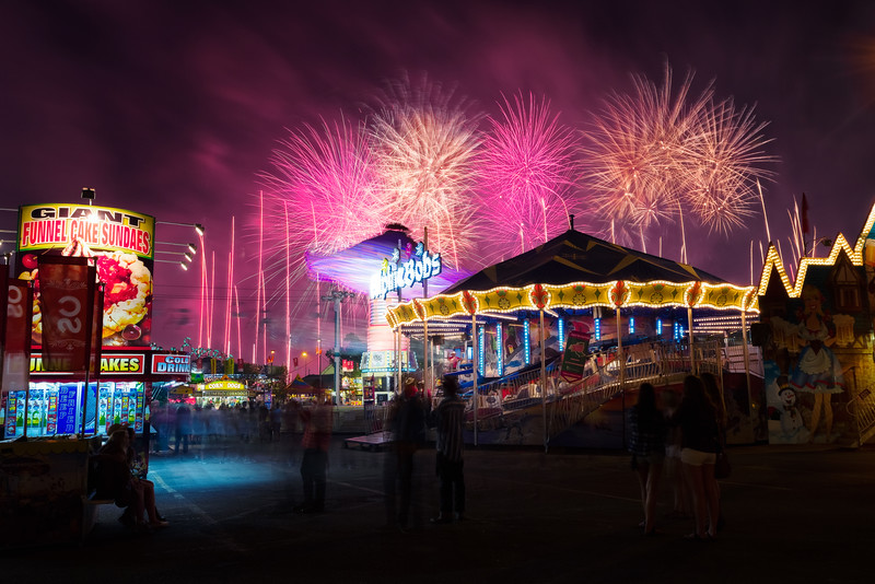 Fireworks Over The Midway